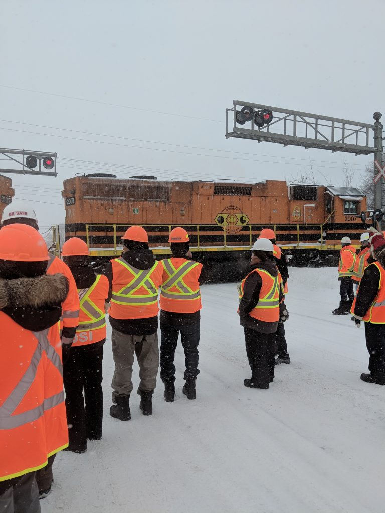 During the workshop, participants had the opportunity to observe a rail operation first-hand.